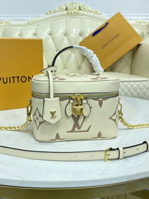 2021 Louis vuitton original calfskin vanity pm handbag M45599 white
