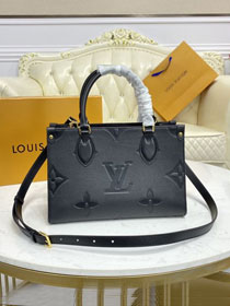 2021 Louis vuitton original embossed calfskin onthego pm M45661 black