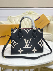 2021 Louis vuitton original embossed calfskin onthego pm M45659 black