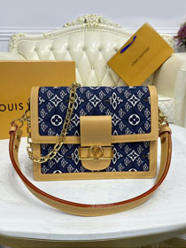 2021 Louis vuitton original since 1854 textile dauphine pm M57499 blue