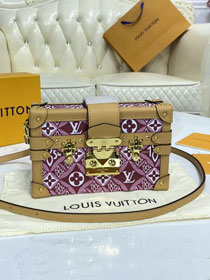 2021 louis vuitton original monogram petite malle M57215 bordeaux