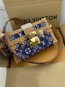 2021 louis vuitton original since 1854 textile petite malle bag M57212 blue