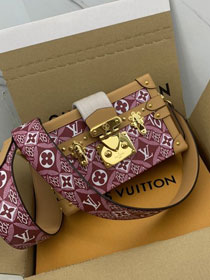 2021 louis vuitton original since 1854 textile petite malle bag M57212 bordeaux
