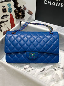 2021 CC original lambskin medium flap bag A01112 blue